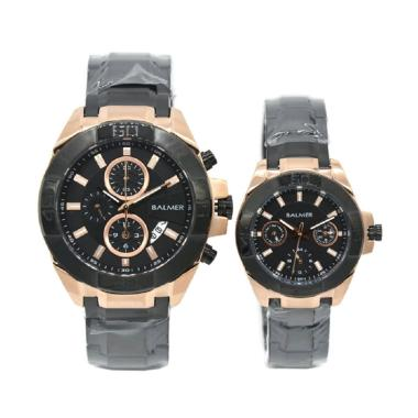 Balmer B.7928ML Jam Tangan Couple - Hitam Ring Rosegold