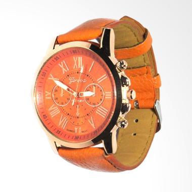 Geneva Fin 26 Jam Tangan Fashion Wanita - Orange