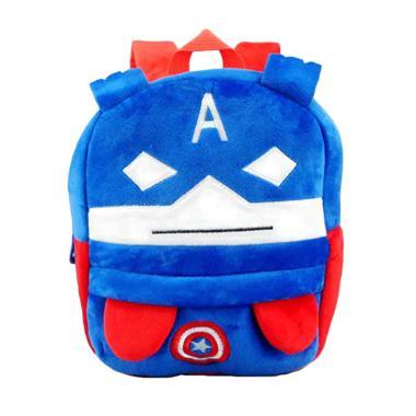 Happy Superheros Avanger Tas Ransel Anak - Biru