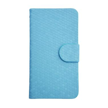 OEM Glitz Flip Cover Casing for Oppo Neo 5S A31t - Biru