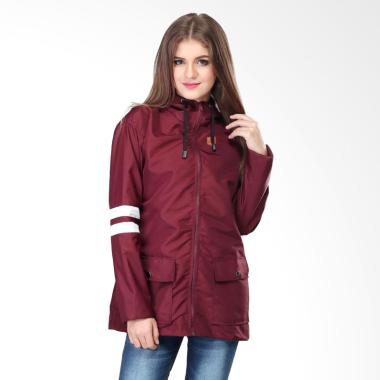 Sognoleather smd185 Jacket Wanita - Maroon