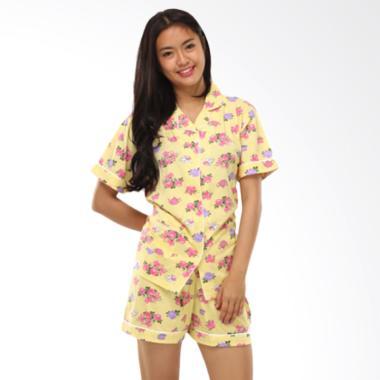 GRAZIEE BJ007 Flower Motif Setelan Baju Tidur Wanita