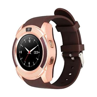 Xwatch V8 Smartwatch For Android dan Iphone - Gold Brown