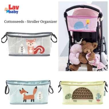 harga Cottonseeds stroller organizer tas gantung cottonseed bayi - Grey Multicolor Blibli.com
