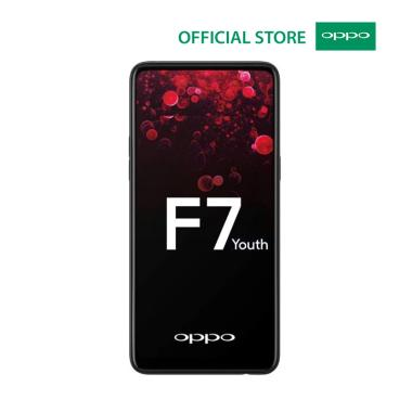 Oppo F7 Youth - RAM 4GB ROM 64GB (4/64) Black / Red - Baru NEW - Resmi