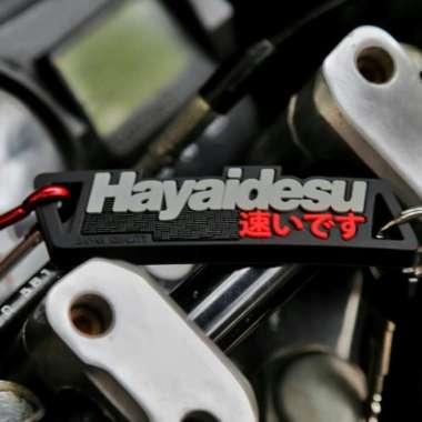 harga Hayaidesu Keychain Gantungan Kunci Aksesoris Variasi Motor Mobil - Merah Multicolor Blibli.com