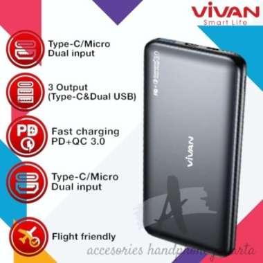 Unik VIVAN VPB-N10 10000mAh POWERBANK 20 WATT PD QC3.0 TWO WAY QUICK CHARGE Berkualitas