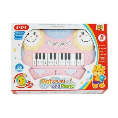 MOMO Pat Drums and Piano Mainan Musik Anak - Pink