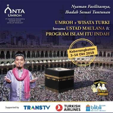 harga Anta Umroh DP 12D Umroh Plus Turki Bersama Ustad Maulana [Keberangkatan 03-14 October 2019] Blibli.com