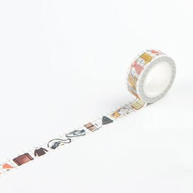 harga Bluelans #14 Colorful Sticker Paper Self Adhesive Tapes DIY Decorative Washi Tape Stationery Blibli.com