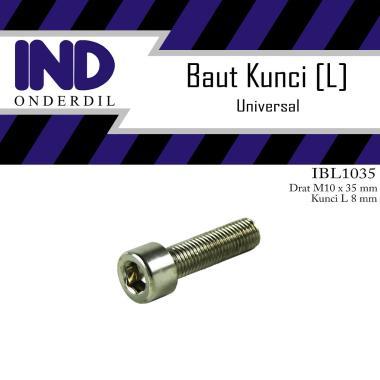 harga IND Onderdil Baut Kunci L [L8/ M10x35/ Pitch 1.25] Blibli.com