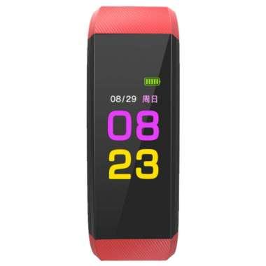 harga 115Plus Smart Watch Wristband Bracelet Sports Fitness Tracker Heart Rate Monitor Red Blibli.com