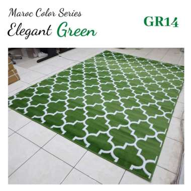 harga MAROC Karpet Lantai 210x300 GR14 Green - GreenWhite Blibli.com