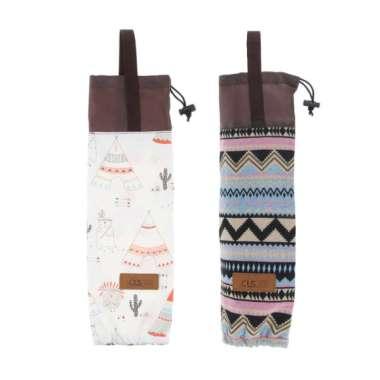 harga 2pcs Paper Cup Holder Dispenser Bag Disposable Cups Hanging Storage Pouch - Blibli.com
