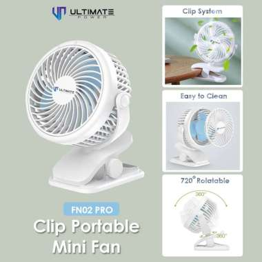 harga Ultimate Power Clip Portable Mini Fan FN02 PRO Kipas Angin Kecil Klip Putih - Kelinci Blibli.com