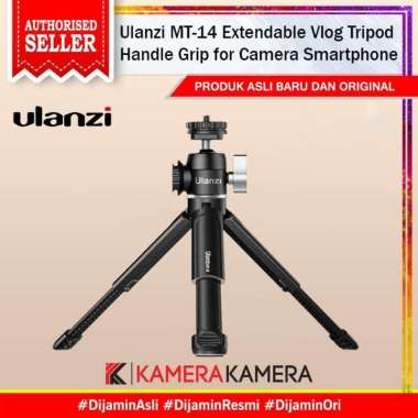 harga KameraKamera Ulanzi MT-14 Extendable Vlog Tripod Handle Grip for Camera Smartphone HITAM Blibli.com
