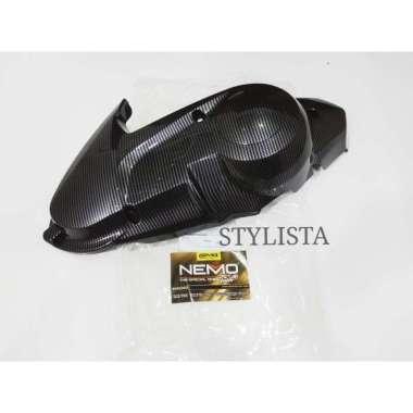 harga Cover Tutup Cvt Yamaha Nmax Carbon Nemo Aksesoris Motor Nmax A66 Black Blibli.com