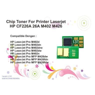 harga Chip Toner Cartridge CF226A (26A) Pro MFP M426fdn (F6W14A) Monochrome Blibli.com