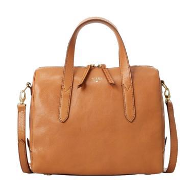 Fossil ZB 5486235 Sydney Satchel Hand Bag Wanita - Camel
