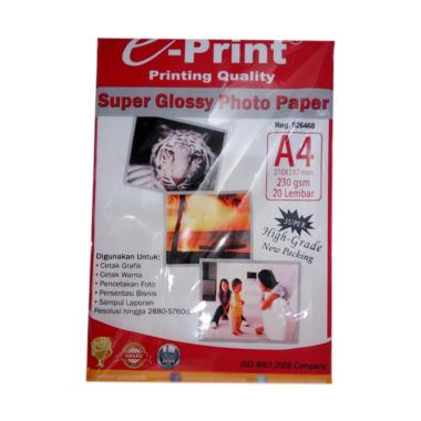 E-Print Glossy Photo Paper [230 Gsm/ A4/ 20 Sheets]