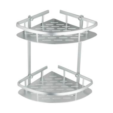 GilboyStore Rak sudut Dinding 2 Susun Aluminium