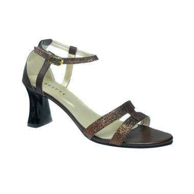 Beauty Shoes 1313  Heels Sendal Wanita - Brown