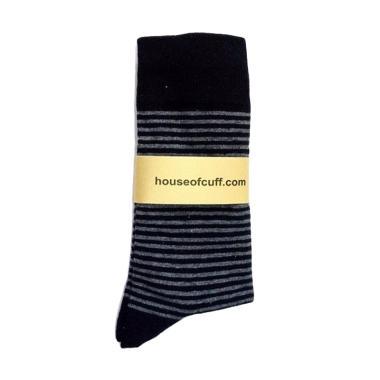Houseofcuff Stripes Kaos Kaki - Black Grey
