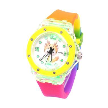 LSH Analog Arloji Rainbow Jam Tangan Wanita - Yellow