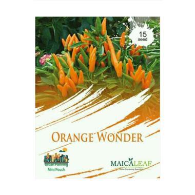 Maica Leaf Cabe Hot Orange Wonder Benih Tanaman [15 Benih]