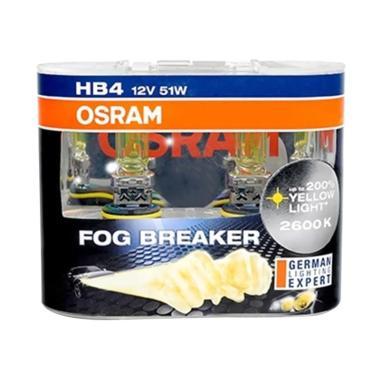OSRAM HB4 FBR Fog Breaker Halogen Bohlam Lampu [2600K/51 W/12 V]