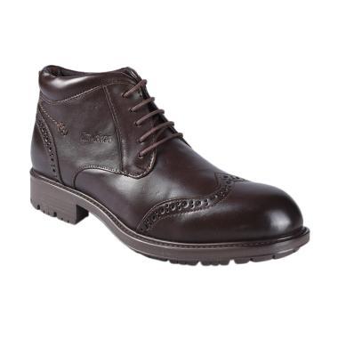 Jim Joker 1BA Casual Flem Sepatu Boot Pria - Coffee
