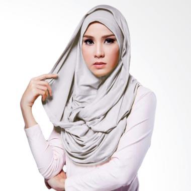 Milyarda Hijab Hana Twist Kerudung - Abu Abu