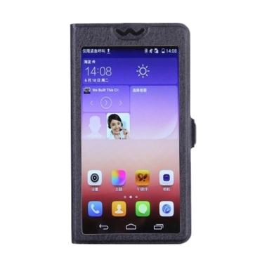 OEM Full Screen Flip Cover Casing for Vivo Y35 - Hitam