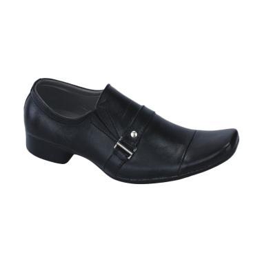 Syaqinah 54 Kulit Pantofel Sepatu Pria - Hitam