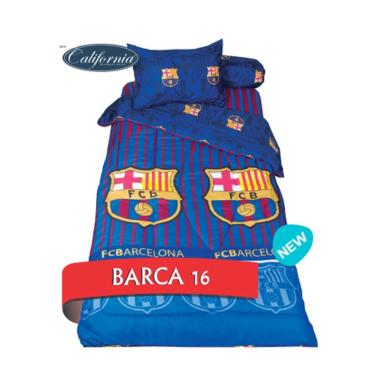 California Motif Barca 16 Set Sprei [Single Size/120 x 200 x 22.5 cm]