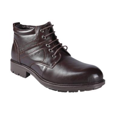 Jim Joker 2BA Casual Flem Sepatu Boot Pria - Coffee