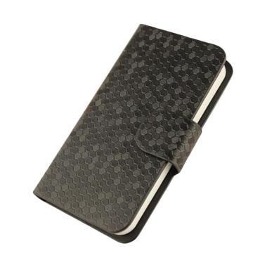 OEM Glitz Flip Cover Casing for Oppo Neo 5 R831S - Hitam