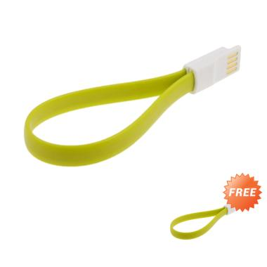 Riva Magnet Kabel Charger Micro USB - Green [20cm /Buy 1 Get 1]