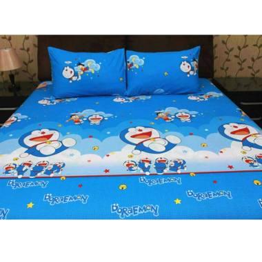 Ellenov Rumbai Doraemon Fly Katun Set Sprei