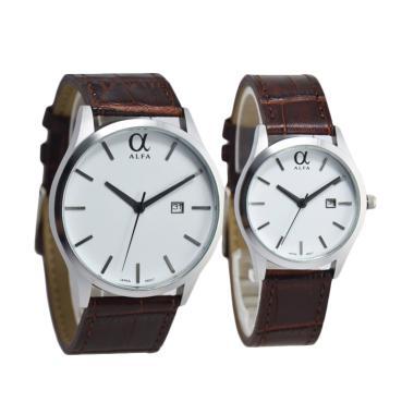 Alfa D45H17055010CCKTSP Couple Edition Jam Tangan Pasangan - Brown