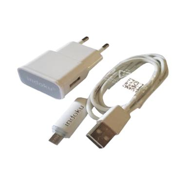 Indoku Travel Charger Micro USB with Lampu LED