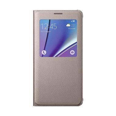 Samsung Folio Cover Casing for Samsung Galaxy J1 Ace - Gold