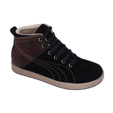 Syaqinah 24 Sepatu Sneakers Anak Laki-Laki - Hitam