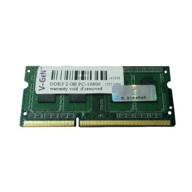 V-Gen SODimm DDR3 Memory RAM Laptop [2GB/ PC10600/ 1333Mhz]
