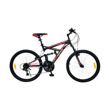 harga WIMCYCLE Air Flex X2 Sepeda MTB - Hitam Merah [24 Inch] Blibli.com