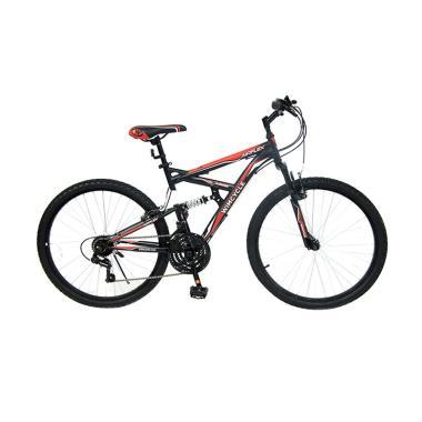 WIMCYCLE Air Flex X2 Sepeda MTB - Hitam Merah [26 Inch]