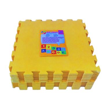 Ari Jaya Polos Karpet Puzzle - Kuning [10 Pcs]