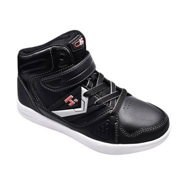 Homyped Volta 02 Sepatu Sekolah Anak - Black White