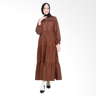 Allev Kainah Dress Muslim - Coklat