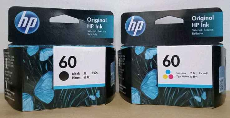 harga Paket tinta hp 60 black & colour original Blibli.com